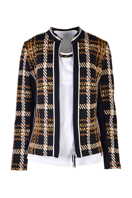 SE Just White Bold Check Jacket