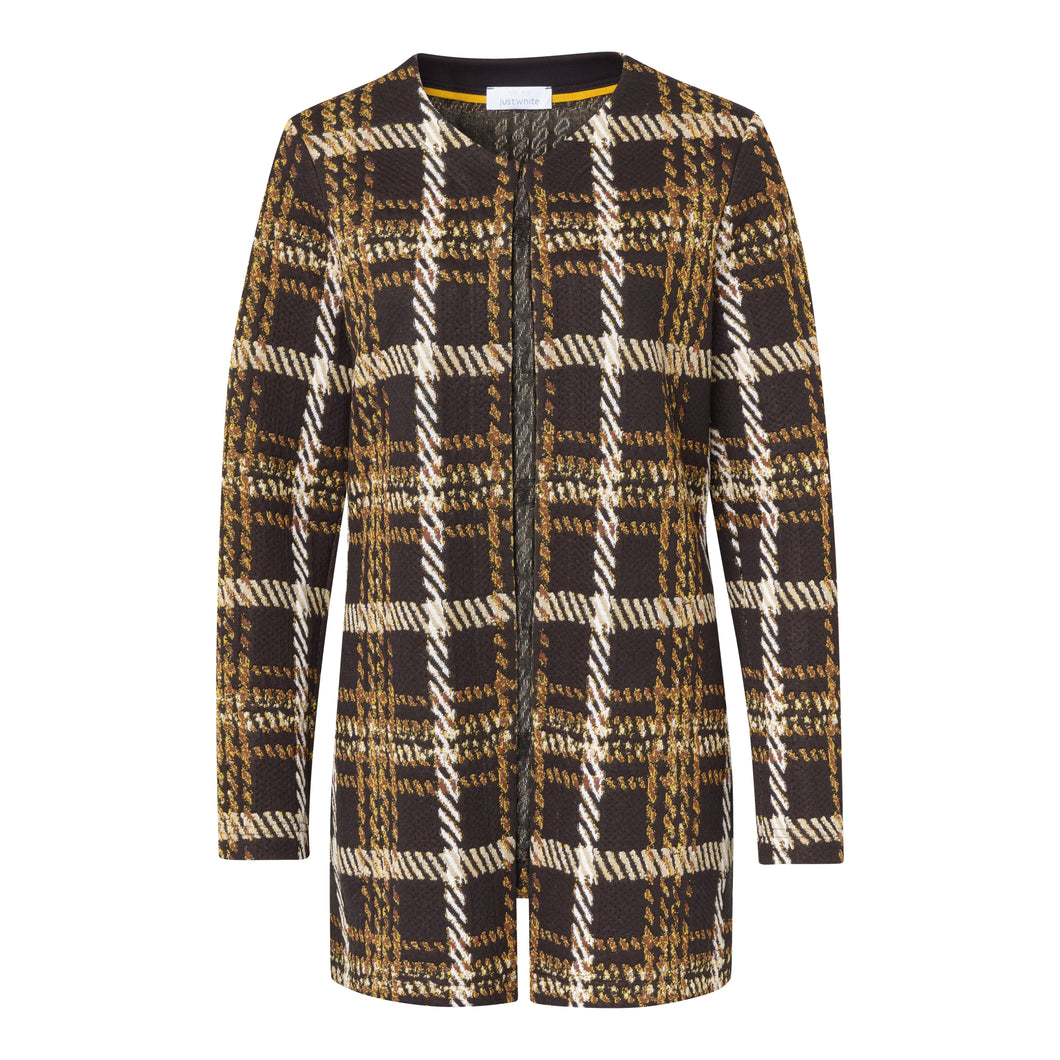 SE Just White Check Jacket
