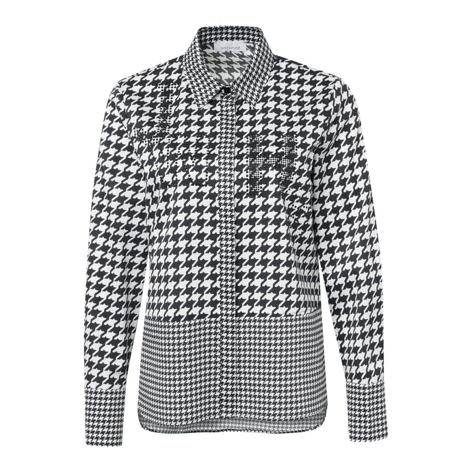 SE Just White Dogtooth Shirt