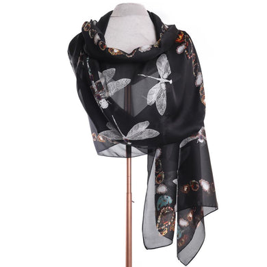 Zelly Dragonfly Scarf - 510301 - Black SS20