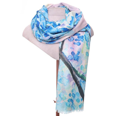 Zelly Blossom Scarf - 530302 - Blue SS20