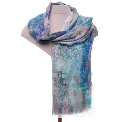 Zelly Abstract Scarf - 539902 - Blue SS20