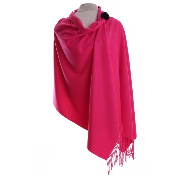 Zelly Pashmina & Pin - 587006 - Hot Pink