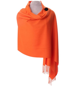 Zelly Pashmina & Pin - 587009 - Sunset Orange