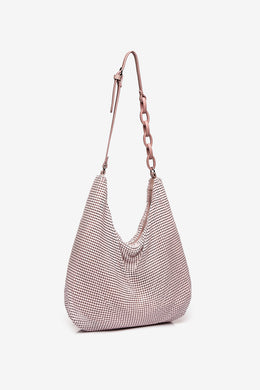 Abbacino Metallic Mesh Bag - 60075 - Pale Pink
