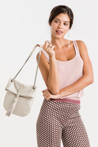 Abbacino Metallic Shoulder Bag - 60076 - Beige
