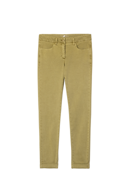 Luisa Cerano Cotton Trousers - Olive - 617504/1883 - SS20