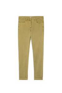 Luisa Cerano Cotton Trousers - Olive - 617504/1883
