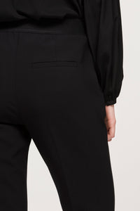 Luisa Cerano Black Straight Leg Trousers