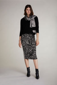 Oui Leopard Spot Stripe Sweater 69828
