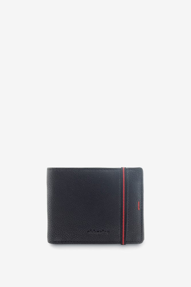 Abbacino Leather Wallet Son Marc 70266 BLACK