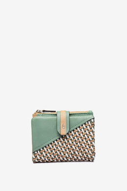 Abbacino Small Braided Purse - 70422 - Green