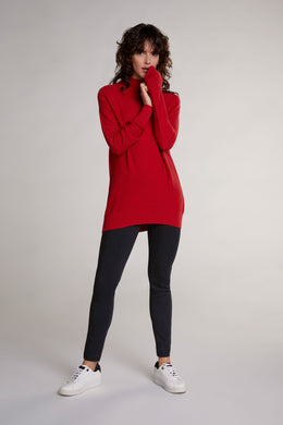 Oui Red Turtleneck Sweater