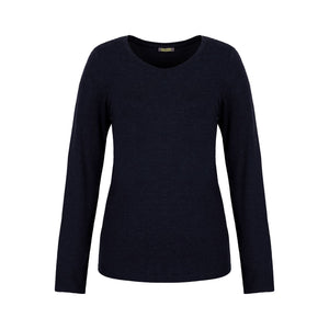 Dolcezza Navy Round Neck T-Shirt