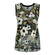 Dolcezza Simply Art Floral Vest and Cardigan
