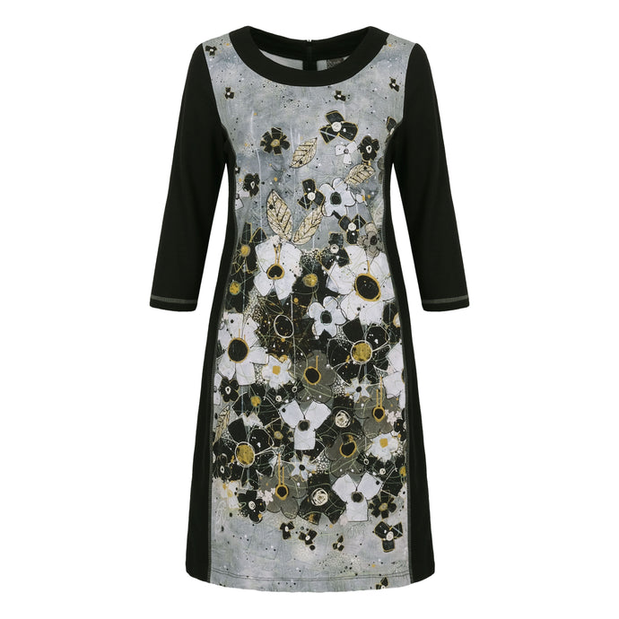 Dolcezza Simply Art Floral Panelled Dress