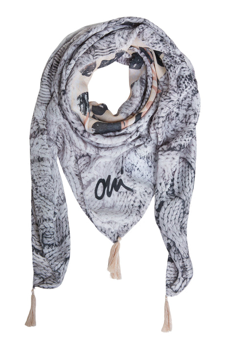 Oui Animal Print Scarf 70639
