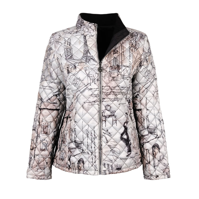Dolcezza Paris Writing Quilted Jacket