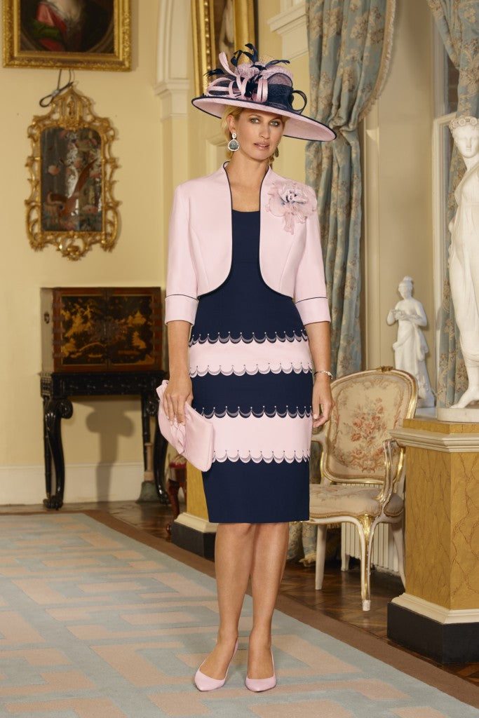 Condici Dress & Jacket 70846 NAVY & PINK