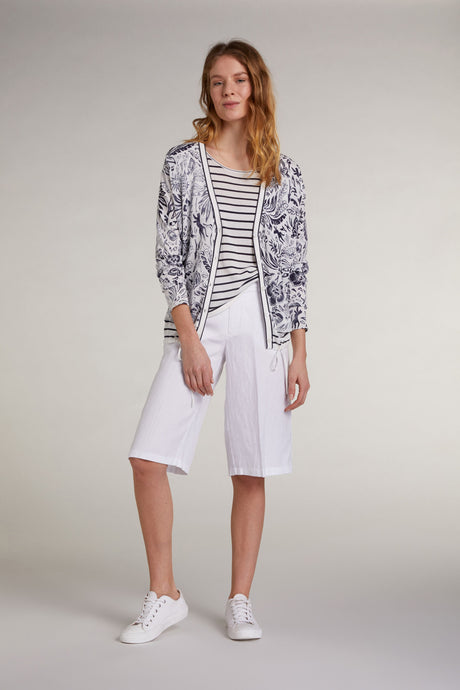 Oui Tropical Print Cardigan