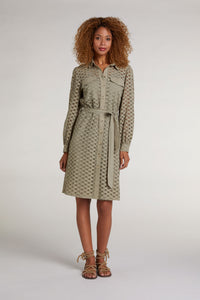 Oui Khaki Shirt Dress