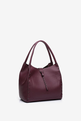 Abbacino Small Burgundy Hobo Bag