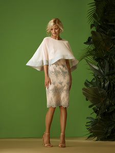 Carla Ruiz Lace Dress & Cape