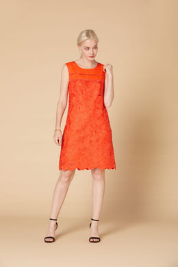 Derhy Linen Dress - Abrogation - Orange
