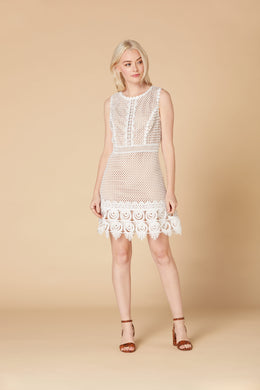 Derhy Crochet Lace Dress - Accelerant - Ecru - SS20