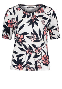Betty Barclay Floral T-Shirt - 2058/1309 - White
