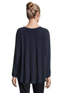 Betty Barclay Georgette Blouse - 8005/1110 - Navy