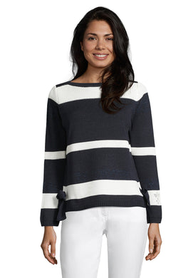 Betty Barclay Sweater 5040/1177 SS20 Navy/Cream