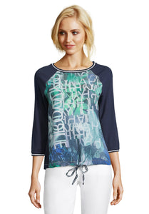 Betty Barclay Printed T-Shirt - Dark Blue - 2031/1120 - SS20
