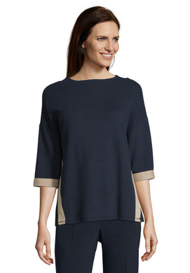 Betty Barclay Ribbed Top - 2040/1136 - Navy