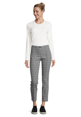 Betty Barclay Dog Tooth Trousers - Black/White - 6003/1075 - SS20