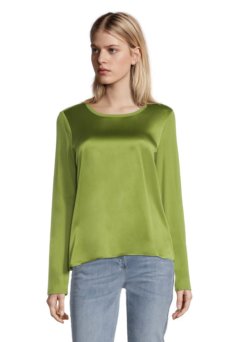 Betty Barclay Green Silk Front T-Shirt