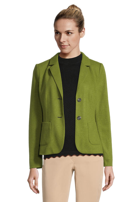 Betty Barclay Green Knitted Wool Blazer