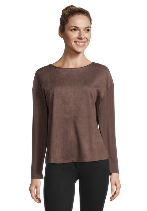 Betty Barclay Faux Suede Chocolate Sweater