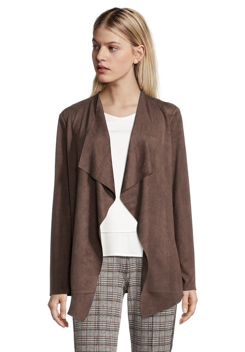 Betty Barclay Faux Suede Waterfall Jacket