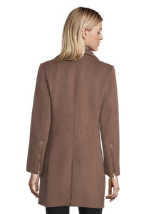 Betty Barclay Hazelnut Melange Wool Coat