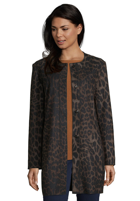 Betty Barclay Animal Print Longline Jacket
