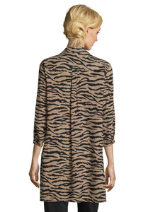 Betty Barclay Camel & Black Zebra Print Shirt
