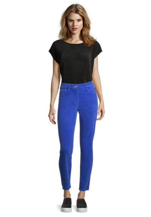 Betty Barclay Bright Blue Cord Jeans