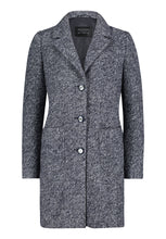 Betty Barclay Navy & Grey Boucle Coat