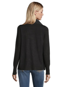 Betty Barclay Faux Suede Waterfall Cardigan