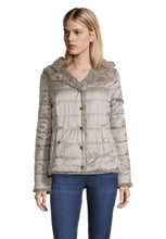 Betty Barclay Taupe Reversible Faux Fur Coat
