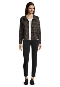 Betty Barclay Brown & Black Animal Print Jacket