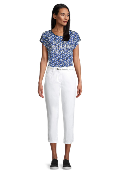 Betty Barclay White Crop Trousers