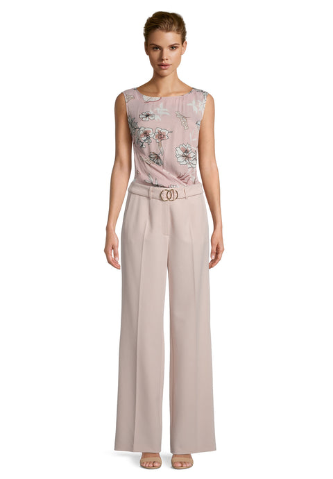 Betty Barclay Pink Wide Leg Trousers