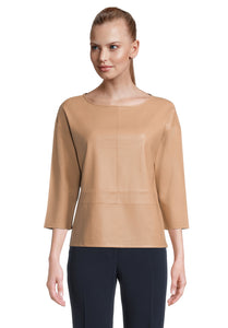 Betty Barclay Camel Pleather Top
